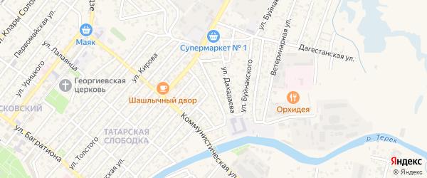 Улица Шаумяна на карте Кизляра с номерами домов