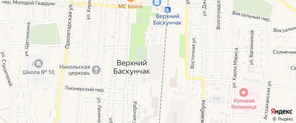 Улица Мира на карте поселка Верхнего Баскунчака с номерами домов