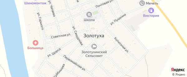 Советская улица на карте села Золотухи с номерами домов