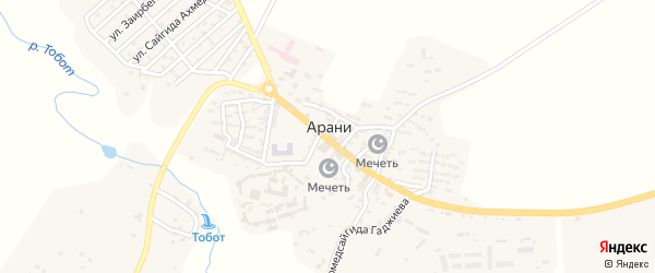 Улица Али Шамилова на карте села Арани с номерами домов