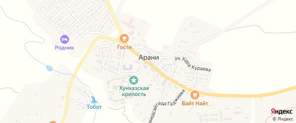 Улица Сиражудина Омарова на карте села Арани с номерами домов