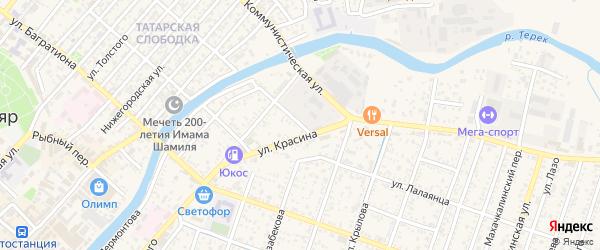 Улица Лалаянца на карте Кизляра с номерами домов