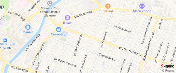 Улица Багратиона на карте Кизляра с номерами домов