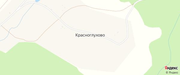 Гаражная улица на карте поселка Красноглухово с номерами домов