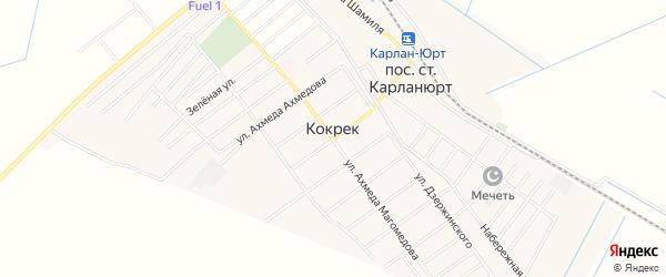 Карта села Кокрека в Дагестане с улицами и номерами домов