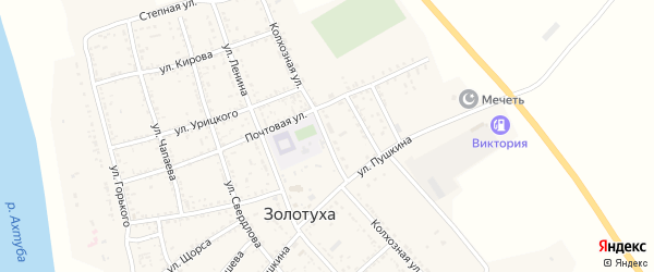 Колхозная улица на карте села Золотухи с номерами домов