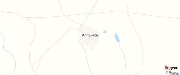 Карта деревни Алгукасы в Чувашии с улицами и номерами домов
