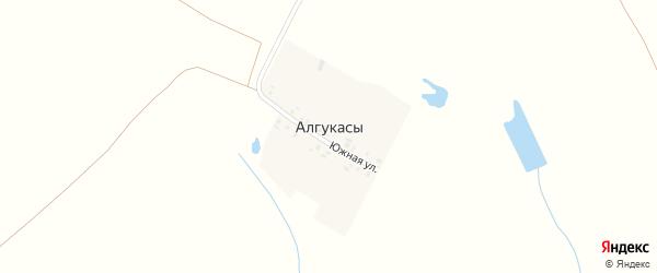 Южная улица на карте деревни Алгукасы с номерами домов