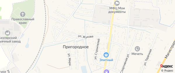 Улица Жукова на карте Пригородного поселка с номерами домов