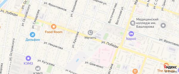 Улица Победы на карте Кизляра с номерами домов