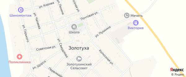 Улица Пушкина на карте села Золотухи с номерами домов
