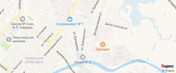 Кумыкская улица на карте Кизляра с номерами домов