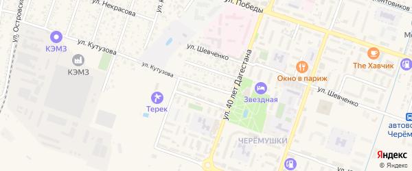Улица Коркмасова на карте Кизляра с номерами домов