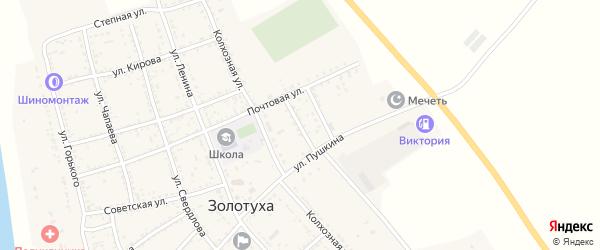 Молодежная улица на карте села Золотухи с номерами домов