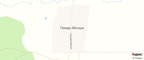 Солнечная улица на карте деревни Пинера-Айгиши с номерами домов