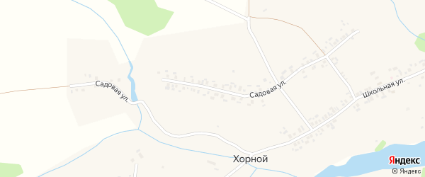 Садовая улица на карте деревни Хорного с номерами домов