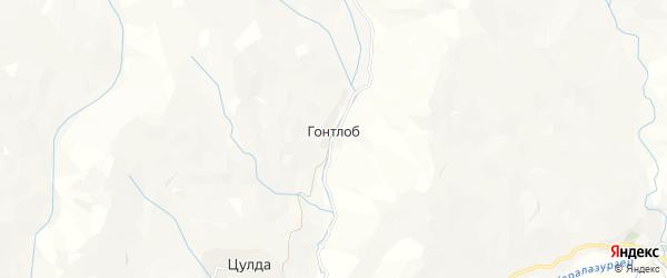 Карта села Гонтлоба в Дагестане с улицами и номерами домов