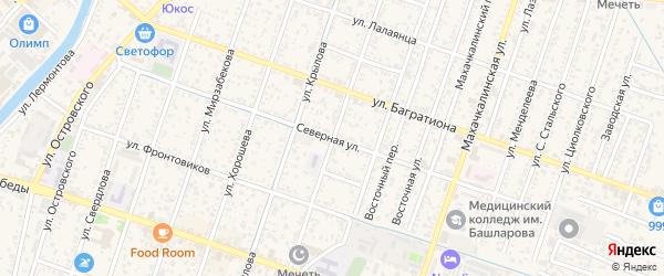 Северная улица на карте Кизляра с номерами домов