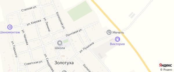 Студенческая улица на карте села Золотухи с номерами домов