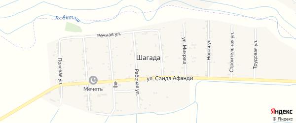 Трудовая улица на карте села Шагады с номерами домов
