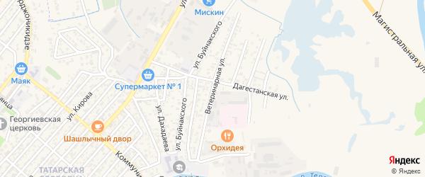Ветеринарная улица на карте Кизляра с номерами домов