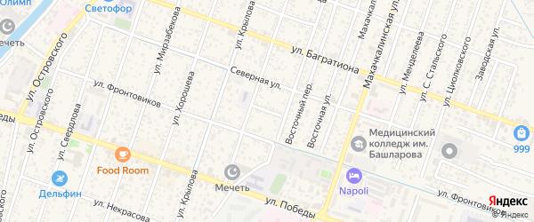 Полевая улица на карте Кизляра с номерами домов