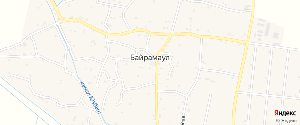 Школьная улица 2-й проезд на карте села Байрамаула с номерами домов