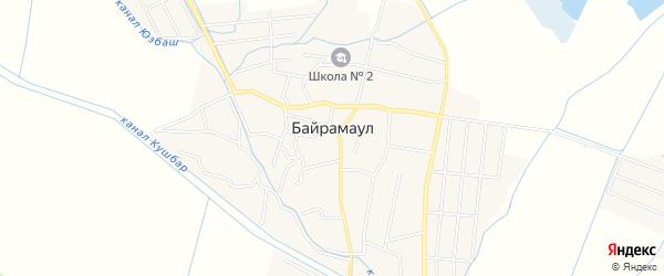 Карта села Байрамаула в Дагестане с улицами и номерами домов