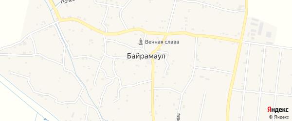 Школьная улица 1-й проезд на карте села Байрамаула с номерами домов