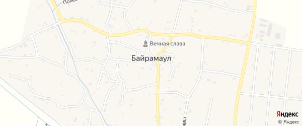 Улица Байрегеева А.А. на карте села Байрамаула с номерами домов