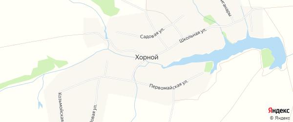 Карта деревни Хорного в Чувашии с улицами и номерами домов