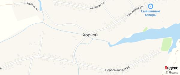 Козьмойская улица на карте деревни Хорного с номерами домов