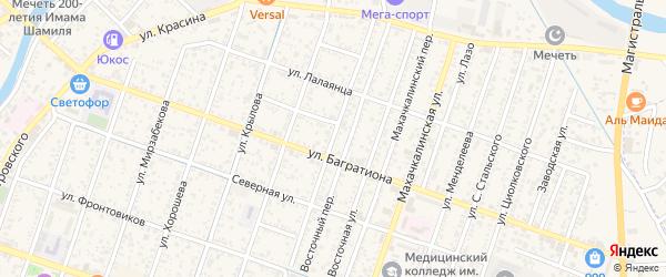Улица Чернышевского на карте Кизляра с номерами домов