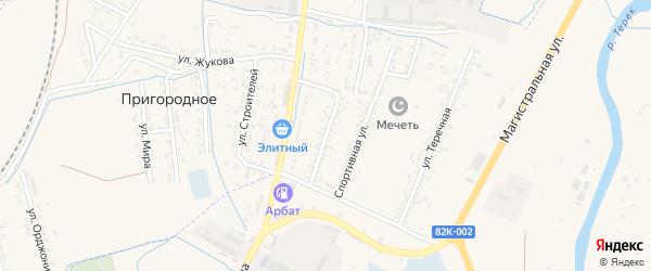 Улица Моисеенко на карте Кизляра с номерами домов