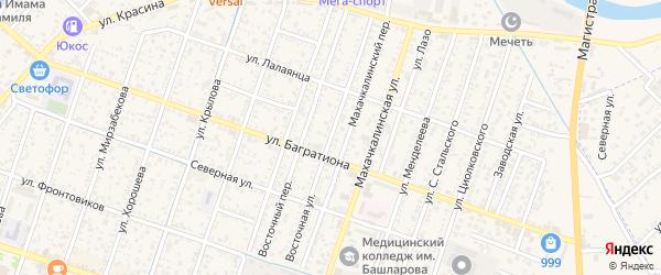 Восточная улица на карте Кизляра с номерами домов