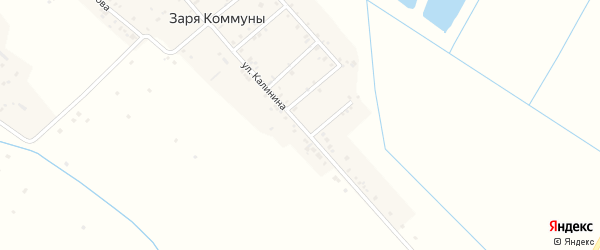 Улица Калинина на карте села Большей Задоевки с номерами домов