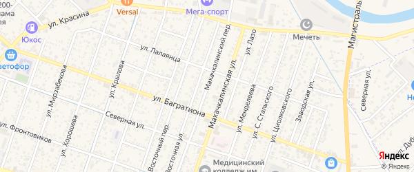 Махачкалинский переулок на карте Кизляра с номерами домов