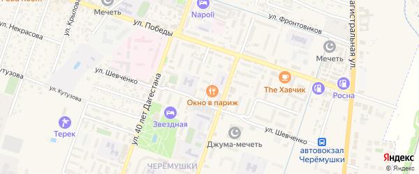 Улица С.Стальского на карте Кизляра с номерами домов