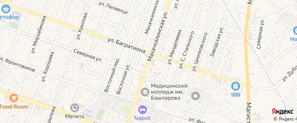 Махачкалинская улица на карте Кизляра с номерами домов