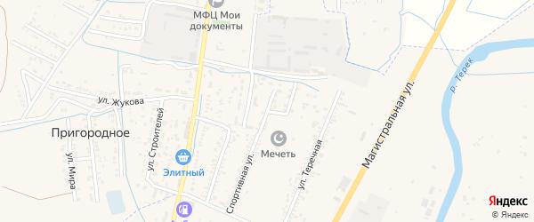 Заводской переулок на карте Кизляра с номерами домов