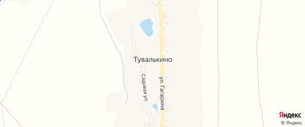 Садовая улица на карте деревни Тувалькино с номерами домов