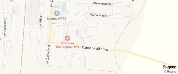 Гипсовый переулок на карте поселка Верхнего Баскунчака с номерами домов