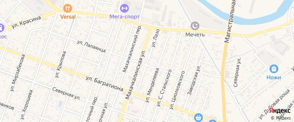 Улица Лазо на карте Кизляра с номерами домов