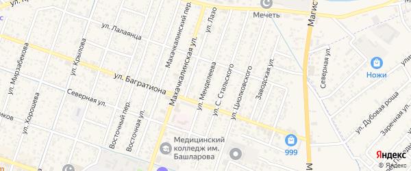 Улица Менделеева на карте Кизляра с номерами домов