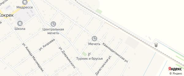Спортивная улица на карте села Карланюрта с номерами домов