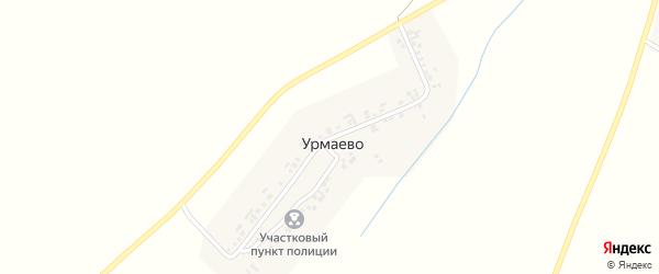 Центральная улица на карте деревни Урмаево с номерами домов