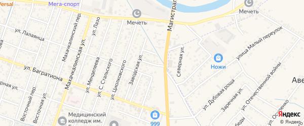 Улица 8 Марта на карте Кизляра с номерами домов
