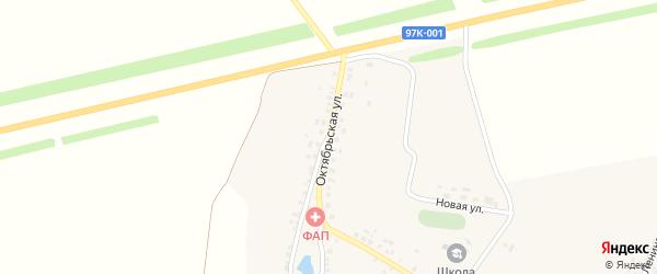 Октябрьская улица на карте деревни Азима-Сирмы с номерами домов