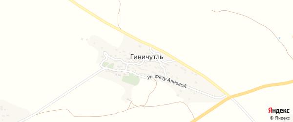 Улица Инквачилаева на карте села Геничутля с номерами домов