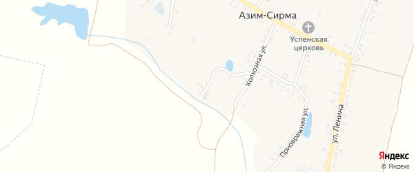 Южный переулок на карте деревни Азима-Сирмы с номерами домов